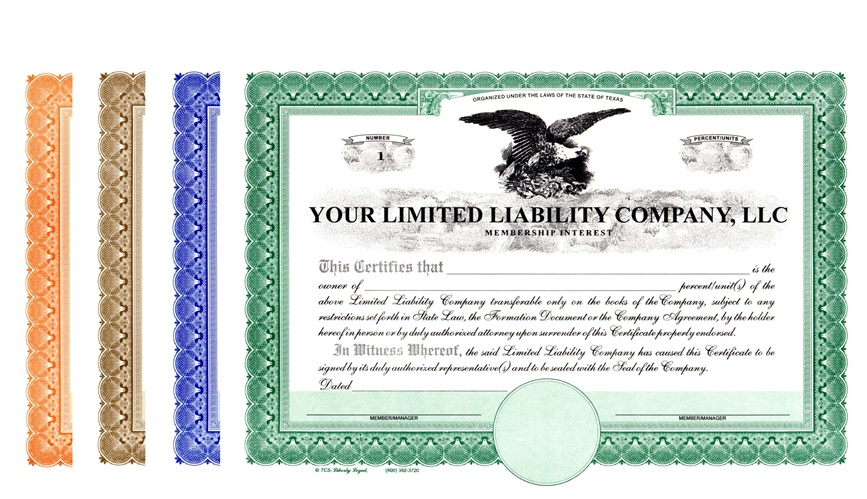 limited liability company certificates