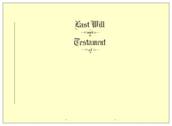 Will Covers Letter Size Testament Ledger