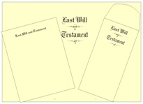 "Will Kit Letter Size Testament Ledger ""Last Will and Testament"""