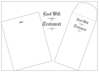 "Will Kit Letter Size Pebble Finish ""Last Will and Testament"""