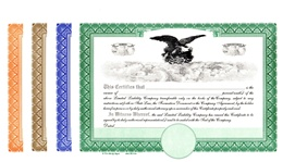 Blank Liberty Legal Eagle Certificates