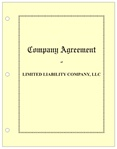 LLC Company Agreement Hardcopy