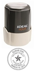 "Texas Notary Self Inking Stamp on Ideal 400R, 1-5/8"" Diameter"