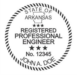 "Arkansas Notary Seal on New Ideal Seal, 1-5/8"" Diameter"