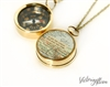 Working Compass Necklace with Vintage Map and Quote - So You Can Always Find Your Way Home