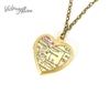 Small Denver Map Necklace on Vintage Heart Locket - Colorado Antique Map Jewelry