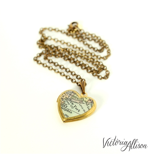 heart jewelry necklace memorial small lockets vermeil gold with radiant cross locket