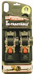 "RETRACTABLE RATCHETING TIE DOWN STRAPS - 1"" X 6FT"