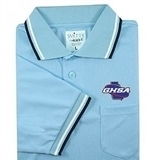 Smitty GHSA Powder Blue Embroidered Short Sleeve Umpire Shirt