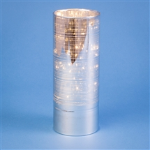 Glass Tube With 15 LED Lights - Silver Stripe