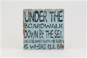 "Wooden Wall Plaque ""Down By The Sea"""