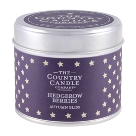 Stars Candle in Tin - Hedgerow Harvest