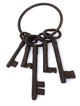 Cast Iron Key Ring