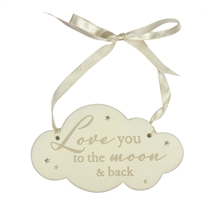 Cloud Plaque - To Moon & Back