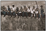 New York Manhattan Workers Tin Picture 40cm