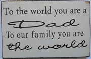 Dad World Message Plaque
