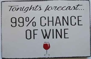 Wine Forecast Message Plaque
