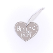 Best Mum Heart Tag