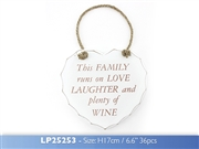 Love Laughter Wine Plaque