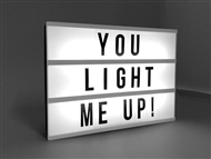 DIY Message Retro Light Box