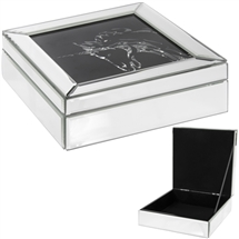 Large Multi Crystal Unicorn Jewellery Box