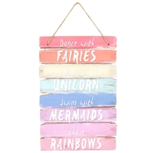 Fairies, Unicorns & Rainbows Plaque