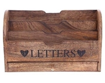 Triple Slot Wooden Letter Rack