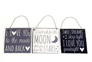 Moon & Back Metal Plaque 10cm