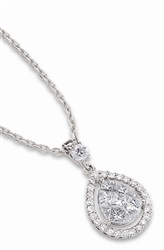 Diamond Pendant in 18K White Gold