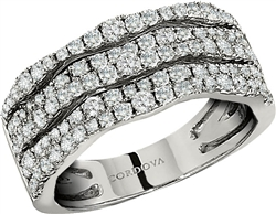 Diamond Ring in 18K White Gold