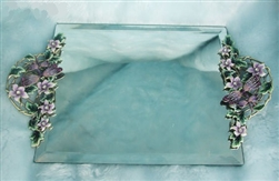Purple Dragonfly Mirror Tray