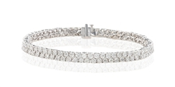 ROUND DIAMOND TENNIS BRACELET IN 18K WHITE GOLD