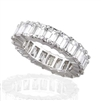 EMERALD CUT DIAMOND ETERNITY BAND HANDMADE IN PLATINUM (9.90 CTS)