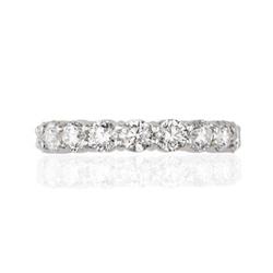 ROUND DIAMOND ETERNITY BAND IN PLATINUM
