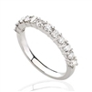 ROUND DIAMOND STACKABLE BAND IN 18K WHITE GOLD