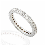 ROUND DIAMOND BAND IN 18K WHITE GOLD