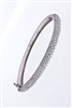 ROUND DIAMOND BANGLE IN 18K WHITE GOLD
