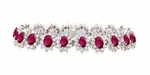 RUBY AND ROUND DIAMOND BRACELET