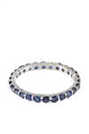 SAPPHIRE STACKABLE BAND IN 18K WHITE GOLD