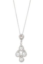 Diamond Dangle Pendant in 18K White Gold