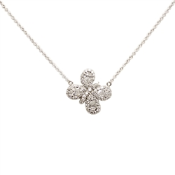 Diamond Butterfly Pendent in 18K White Gold