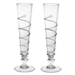 Juliska Amalia Clear Flutes Set of Two