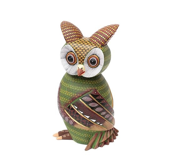 Orlondo the Owl Genuine Oaxacan Wood Carving for Sale