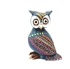 Bardo the Blue Owl Genuine Oaxacan Wood Carving for Sale
