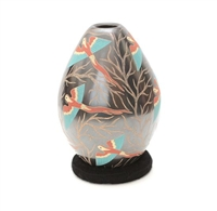 Parrot Vase Genuine Hand Coiled Mata Ortiz Pottery