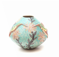 Hummingbird Vase Genuine Hand Coiled Mata Ortiz Pottery