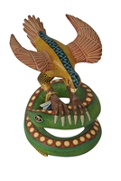 Eagle & Snake Genuine Oaxacan Wood Carving for Sale