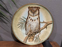 Great Horned Owl Vintage Collector Plate 1972 by Vicente Tiziano from Veneto Flair