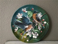 Eastern Bluebird 1986 Vintage Collector Plate Knowles Fine China by Kevin Daniel