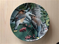 Cedar Waxwing 1987 Vintage Collector Plate in Knowles Fine China by Kevin Daniel